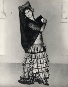 Sarah Fischer as Carmen for 1934 BBC TV