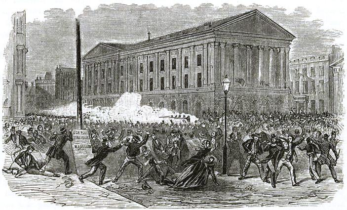 1849 Great Riot at the Astor Place Opera House
