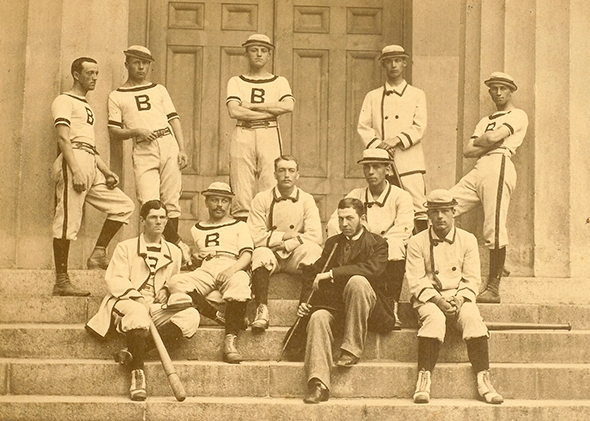 1879 William Edward White on the Brown team 2nd row seated w hat