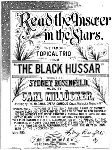 1885 - Black Hussar - Read the Answer cover - trimmed