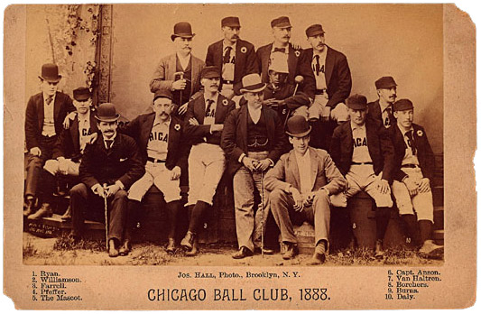 1888 Chicago White Stockings with Hopper