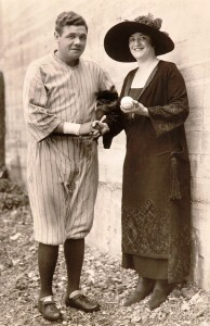 1920 Babe Ruth and Dorothy Jardon trimmed