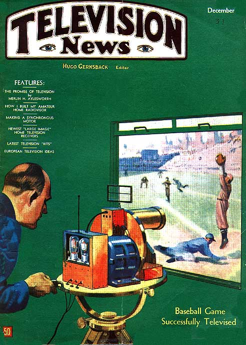 1931_Nov-Dec_TV_NEWS - Japan Baseball cover