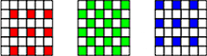 separated Bayer colors