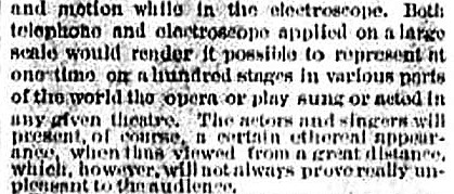 1877 New York Sun opera TV