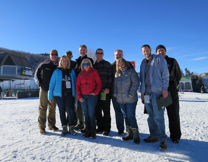The ESPN operations team on hand in Aspen