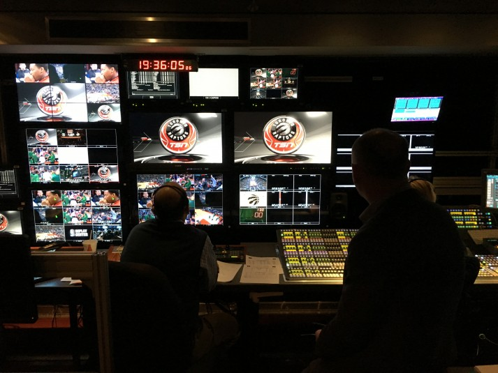 Inside the truck at TSN's first 4K production.