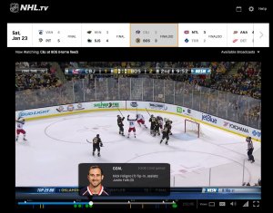 NHL.TV Web Player 2