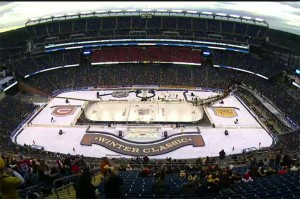NBC Sports' goal was to get the Winter Classic to sound as big on television as Gillette Stadium.