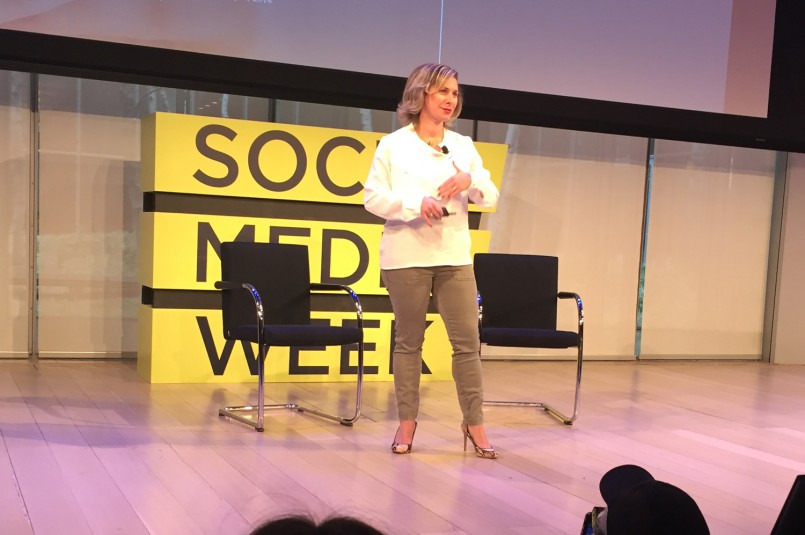 Michelle Klein, head of North America business marketing, Facebook, was a keynoter at Social Media Week