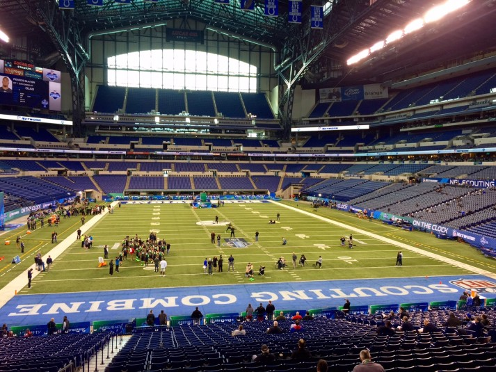 NFL Media has deployed more than 40 cameras throughout Lucas Oil Stadium for the Combine.