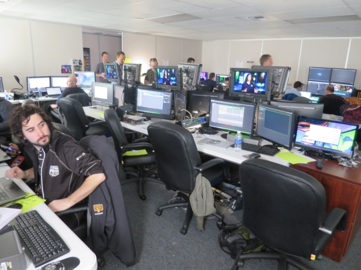 More than 80 graphics and editing professionals are on hand for CBS Sports at Super Bowl 50.