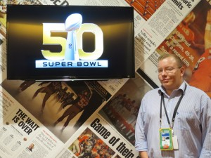 Imagine's Joe Ashba was on hand at Super Bowl 50 to make sure Infocaster's Super Bowl debut went off without a hitch.