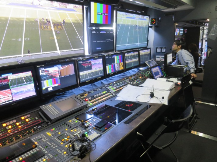 NHK's newest mobile 8K mobile production unit features a Sony production switcher and Lawo audio console.