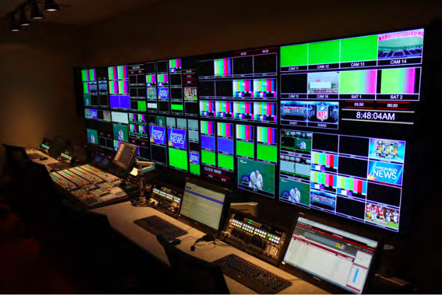 An IP layer was added to Levi's Stadium control room to handle 4K feeds from NEP SSCBS and the videoboard production.