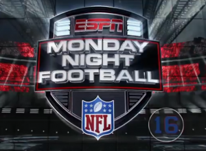 ESPN's Monday Night Football graphics package called for a primetime, entertainment-like feel.
