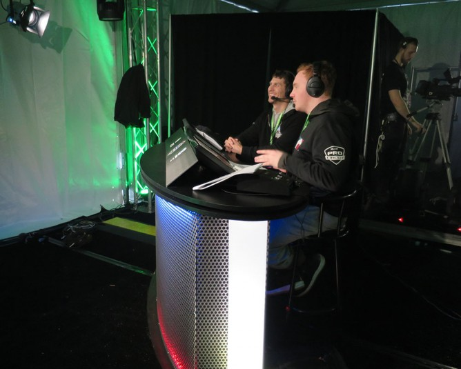 The caster set at the Halo World Championship Tour event in Aspen