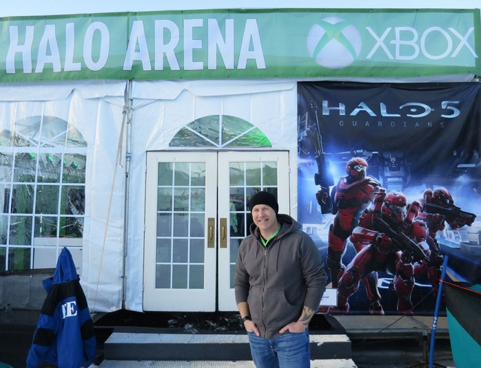 MLG producer Matt West outside the Gaming Shack at Buttermilk Mountain