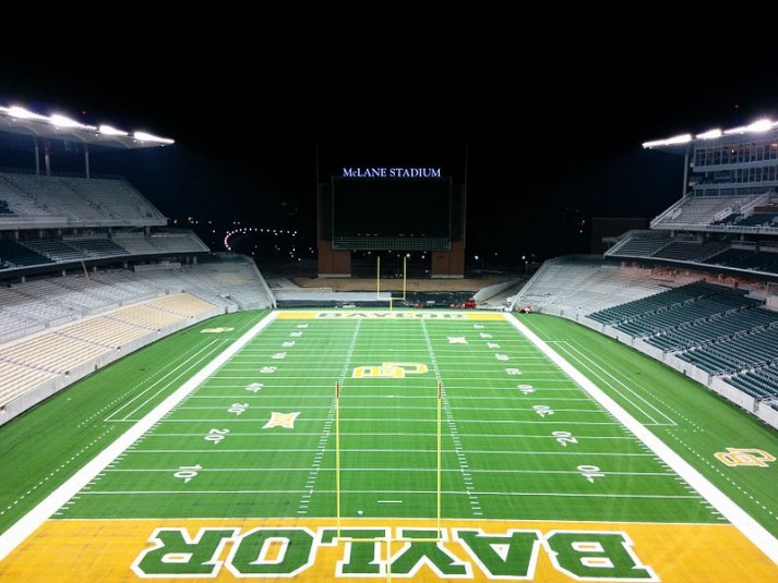 At Baylor University's McLane Stadium, broadcast sound effects can be routed to the VIP suites and clubs.