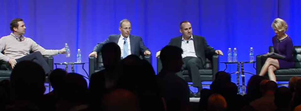 At the MIT Sloan Sports Analytics Conference, a panel of the future of fan engagement featured Ticketmaster's Jared Smith, The Kraft Group's Jonathan Kraft, and Fanatics' Michael Rubin. The session was moderated by journalist Andrea Kramer.