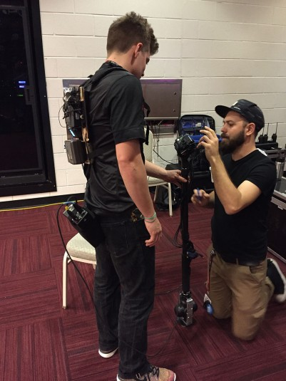 Prepping the mobile 360 camera rig
