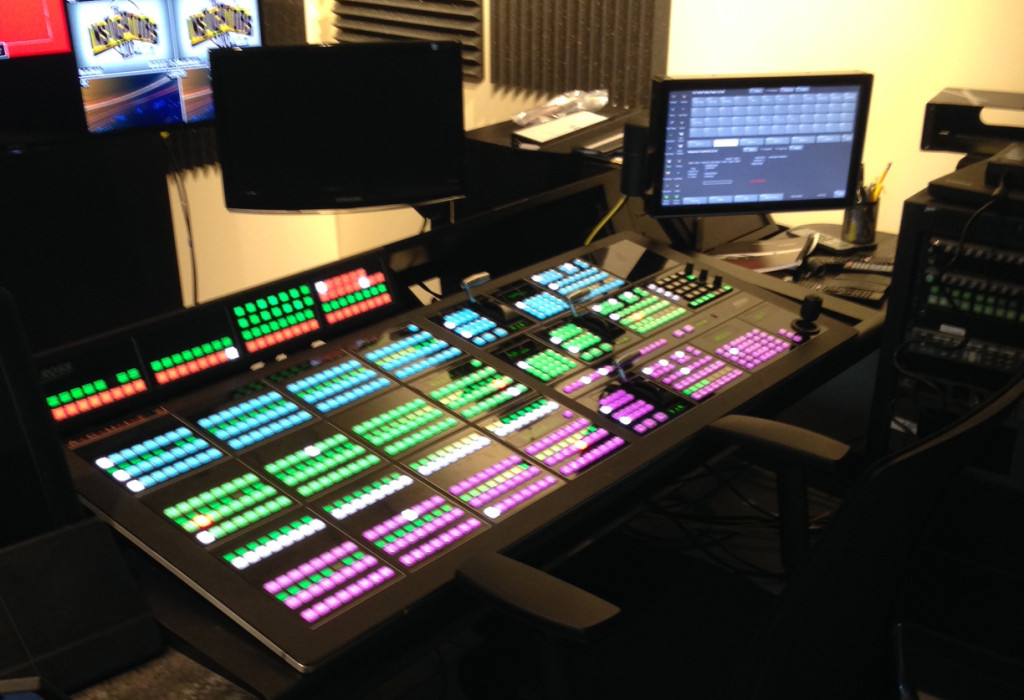 One of two Ross Video Acuity switchers at NESN's production facility.