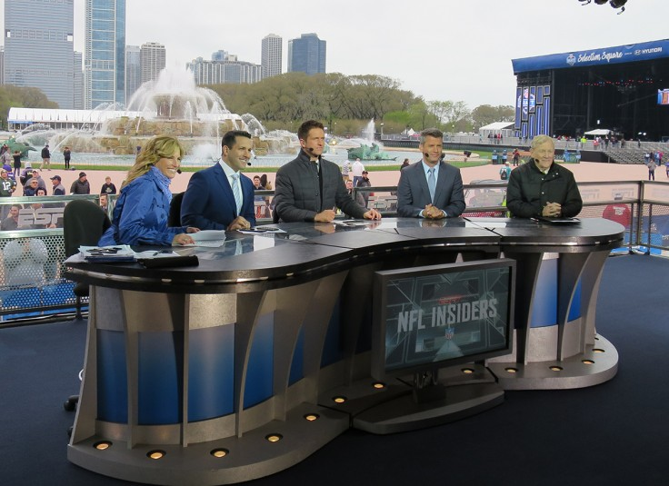 ESPN's 40x40 set at Selection Square in Grant Park is the home to its breadth of should programming, including NFL Insiders