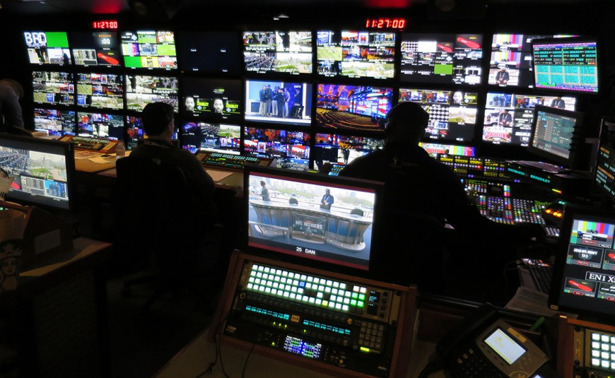 NEP EN1's A-unit control room is serving as home to ESPN's NFL Draft telecast