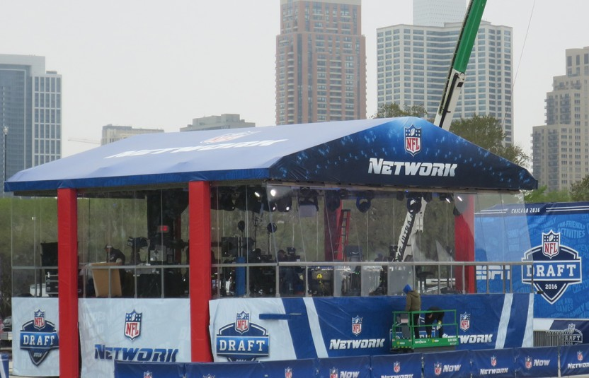 NFL Network's primary set in Selection Square
