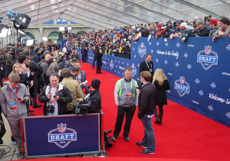 NFL Network produced a full red-carpet show prior to the Draft on Thursday.