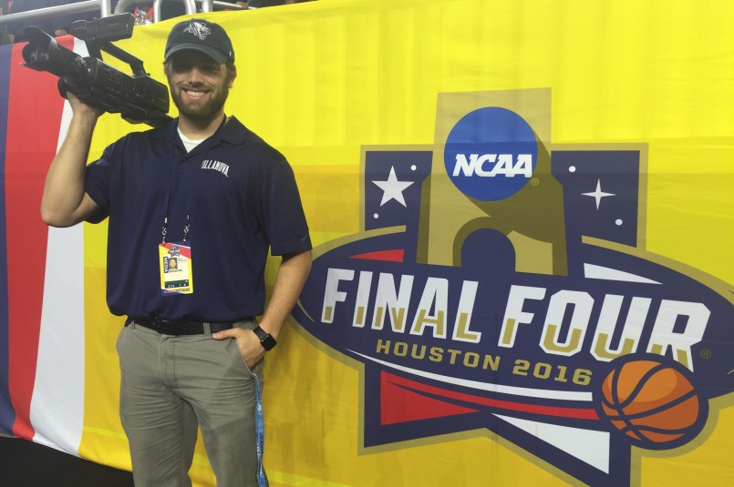 Ryan Christiansen, Video Coordinator for Villanova is on site in Houston at the Final Four creating content for the athletic department's various digital platforms.