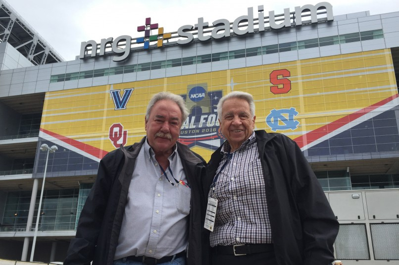 Bill McKechney (left), VP, Engineering and George Orgera, founding CEO and President of F&F Productions are on hand in Houston to support key pieces of the F&F fleet at the Final Four.