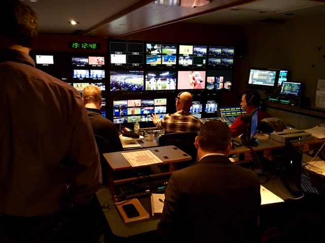 The UHD Sportsnet feed is produced out of Trillium's B unit, which is tethered to the A unit, which produces the HD feed.