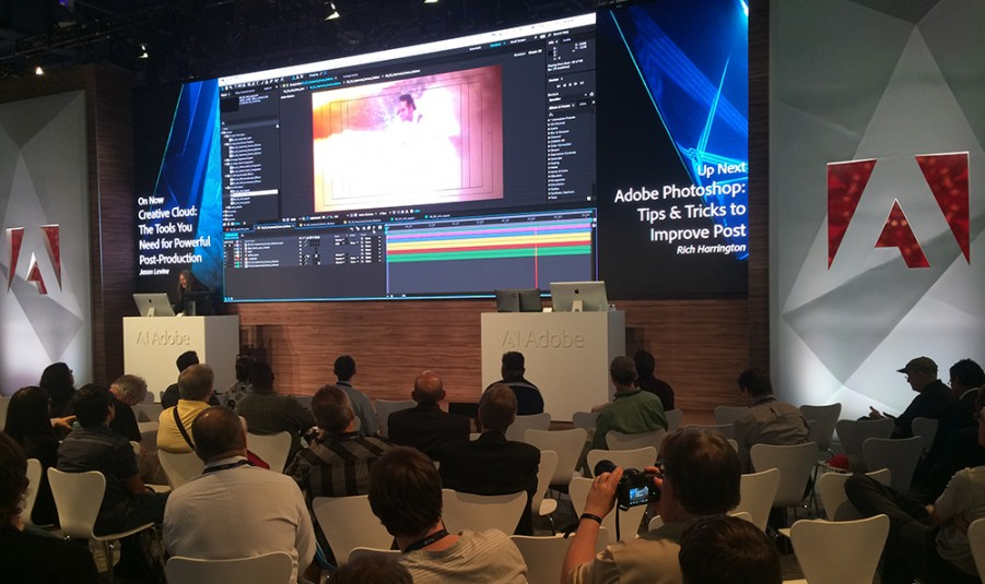 Adobe's booth in South Lower Hall has been packed with demos all week long.