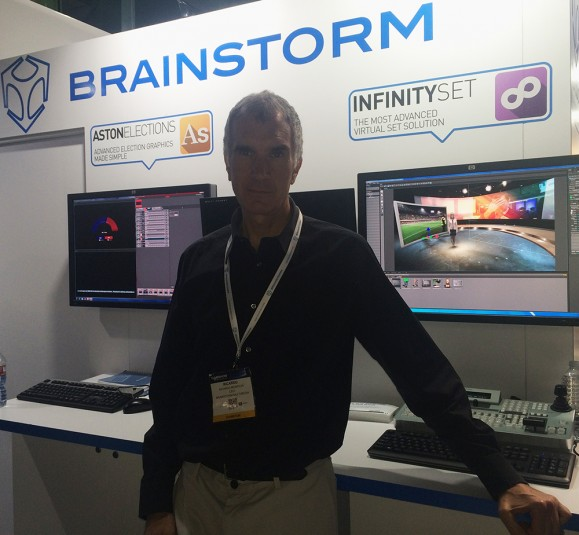 CEO Ricardo Montesa at the Brainstorm booth at NAB 2016