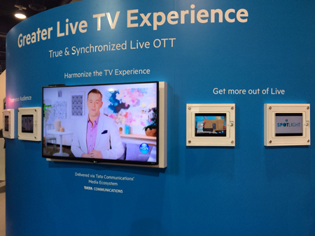 The Sye OTT live steaming demo highlighted Net Insight's NAB 2016 booth
