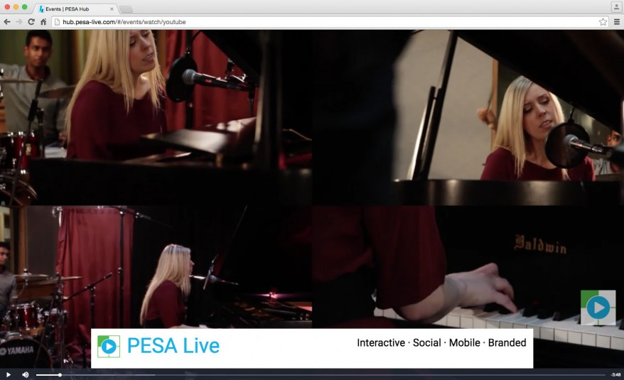 Now accessible by viewers through all major web browsers, the PESA Live interface features a quad-screen display.