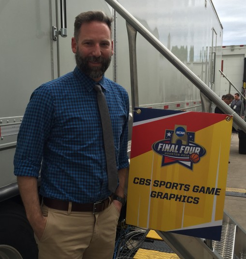 Lee Brinson serves as the team lead and spotter for SMT at the Final Four.