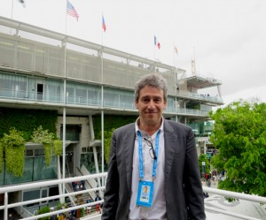 Nicolas Kirszenzaft, production manager, Francetv Sport. oversees the French Open production team.