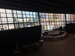 A view of the concourse from the balcony of one of the arena's many VIP areas