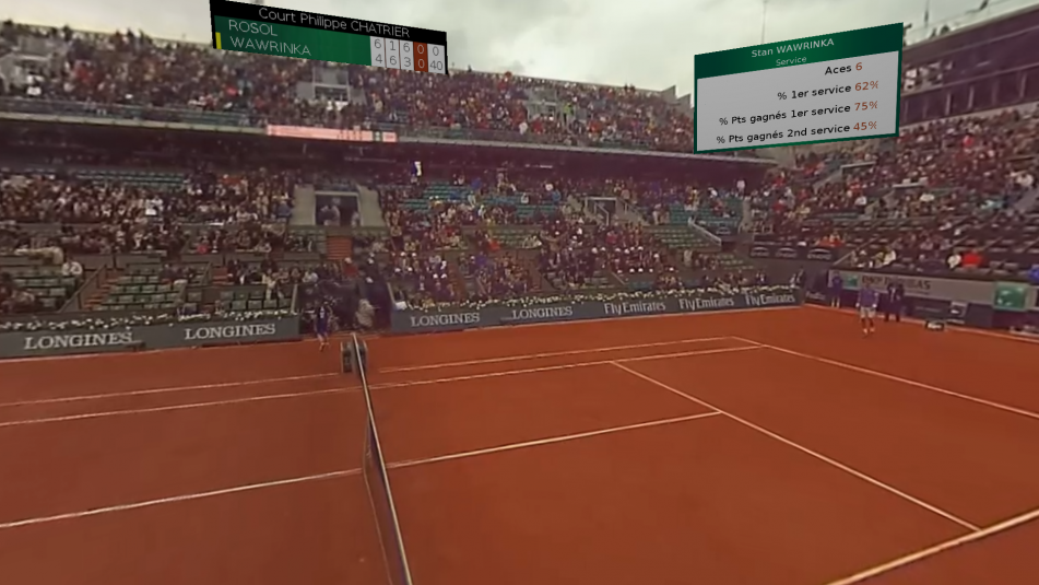 Push-Pull graphics technology brings a new level of data integration to VR at the French Open.