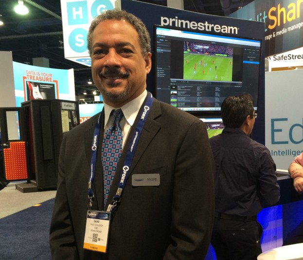 COO David Schleifer at the Primestream booth at NAB 2016