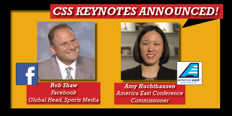 Facebook's Rob Shaw, America East Commissioner Amy Huchthausen to Keynote 2016 SVG College Sports Summit