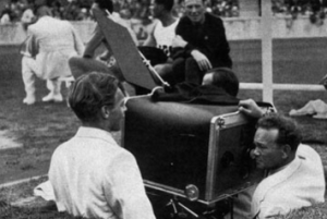 The 1936 Olympics introduced the idea of sports on television.