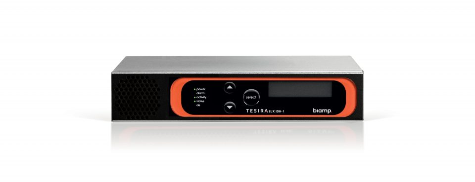 Biamp Systems' new TesiraLUX transports both audio and video signals over a single network.