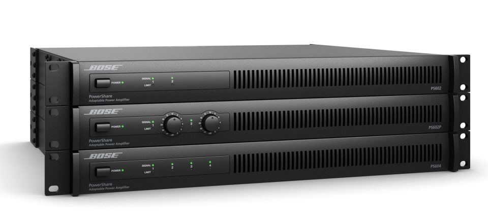 Bose PowerShare adaptable power amplifiers are available in three models, each providing shareable 600 W.