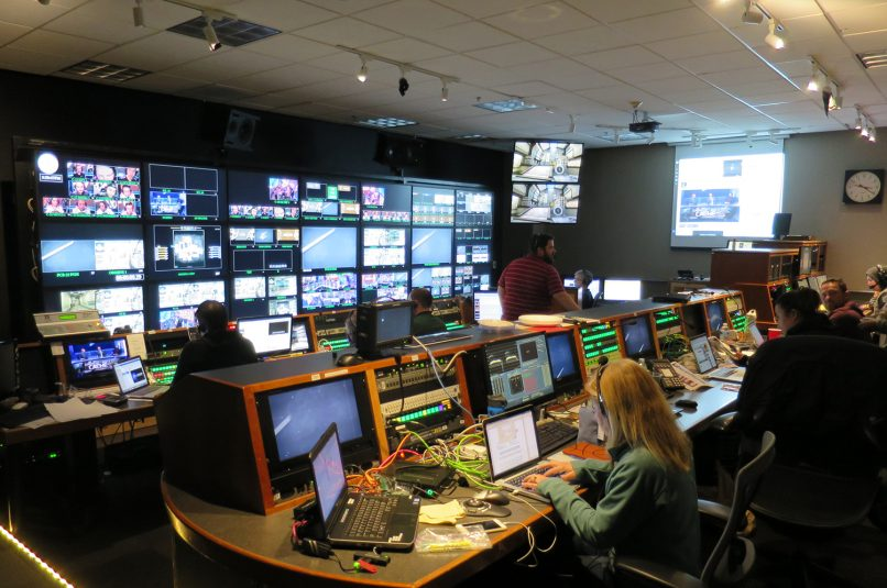 The main eLeague control room at Turner's Techwood campus