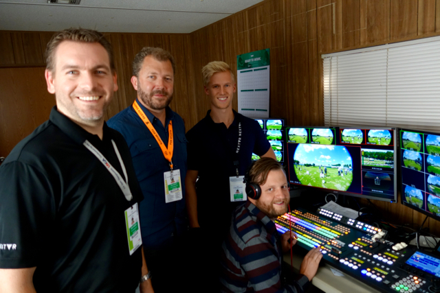 NextVR's Ryan Sheridan, DJ Roller, Jared King, and Tim Amick are helping Fox Sports deliver an eight-camera VR production from the U.S. Open.