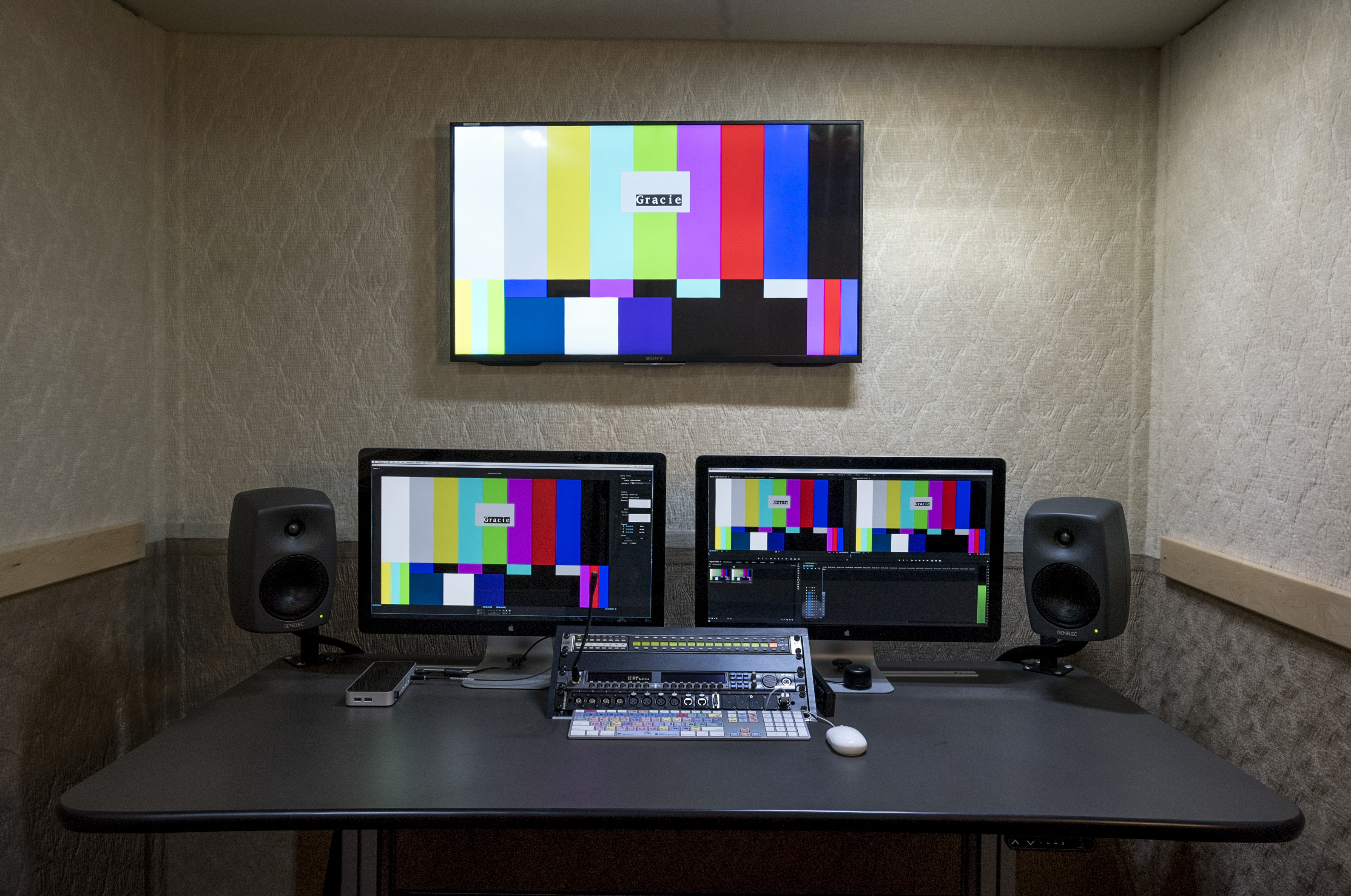 Gracie's 64-channel Avid Pro Tools audio editing system