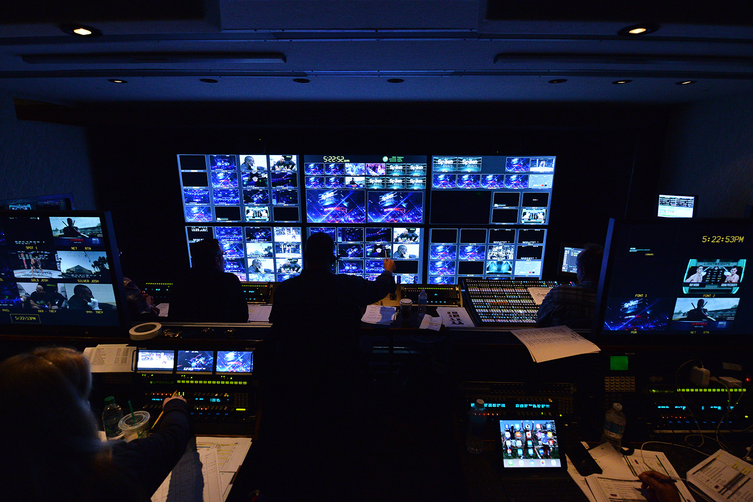 Inside the primary control room in Pegasus A